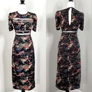 3/$99 🍯 Urban Outfitters Floral Maxi Sheath Dress